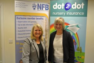 Amanda Pilgrim from the NFB and Jackie Hyde of dot2dot celebrate the launch of the partnership.