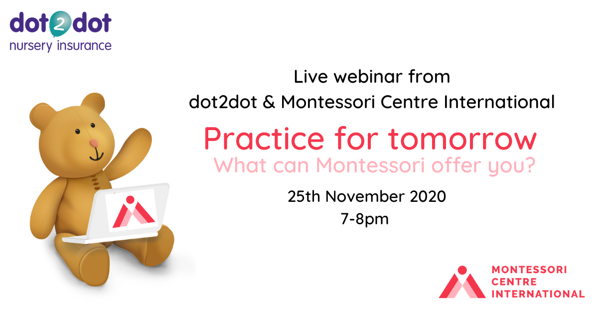 Details of montesorri webinar, 25th November